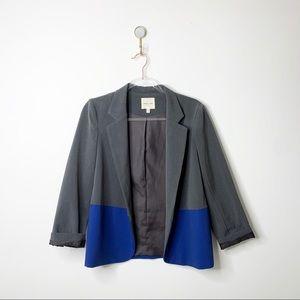UO Silence + Noise Color Block Open Blazer